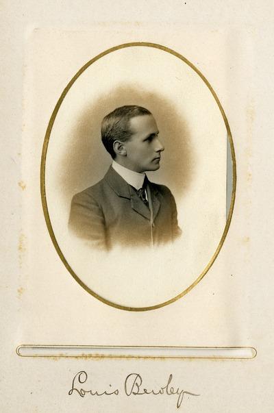 Side profile portrait of Jacob's worker Louis Bewley