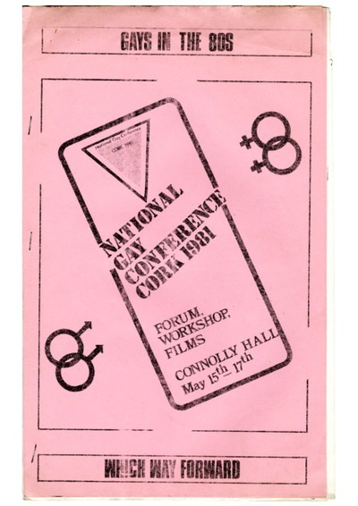 Conference Pack 1981 National Gay Conference Cork