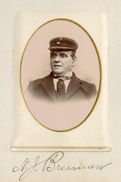 Portrait photograph of [N.] J. Brennan