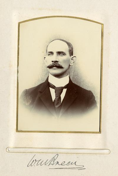 Portrait photograph of [W. M. Brem]