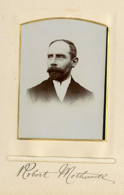 Portrait photograph of Robert Mothervill