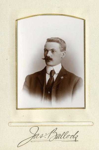 Portrait photograph of James Bullock