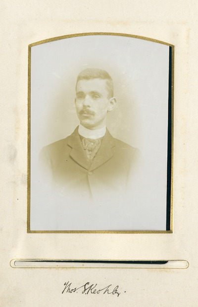 Portrait photograph of former Jacob's employee Thomas S. [Keohler]