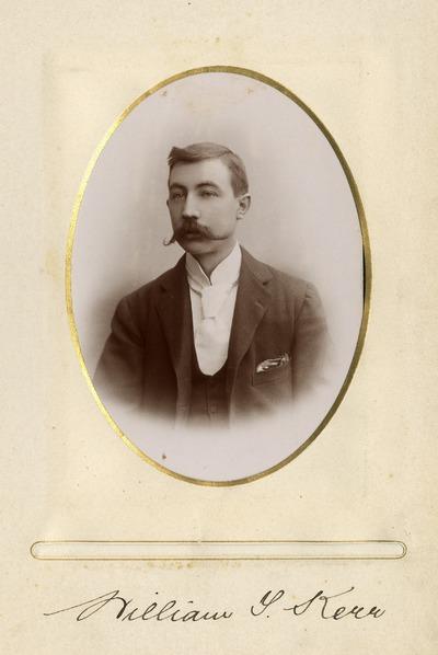 Portrait photograph of Jacob's employee William [T.] Kerr
