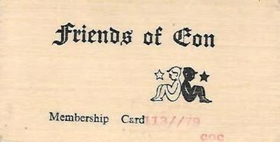 Friends of Eon Membership Card