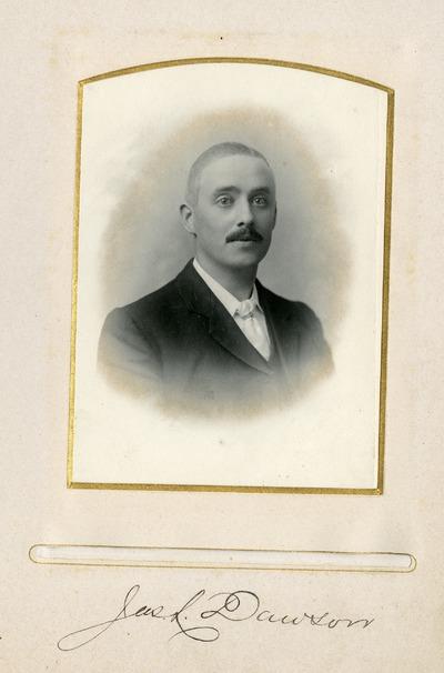 Portrait photograph of [James] L. Dawson