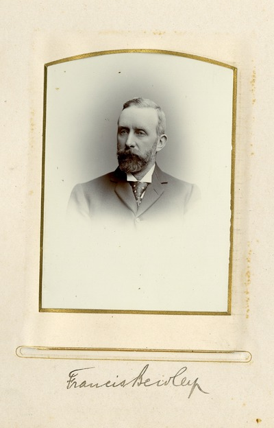 Portrait photograph of Francis Bewley.