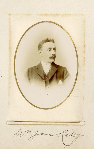 Portrait photograph of William [James] Riley