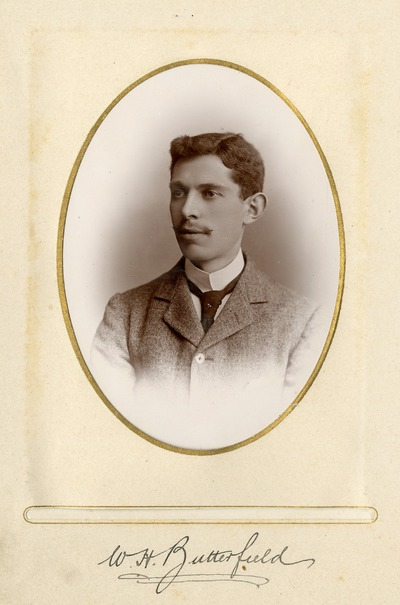 Portrait photograph of Jacob's employee W. H. Butterfield