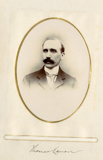 Portrait photograph of Thomas Lemon