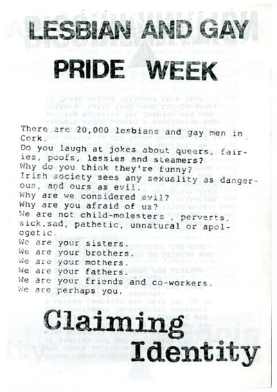 Cork Lesbian and Gay Pride Week