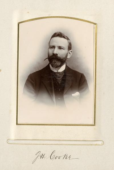 Portrait photograph of J. H. Cooke