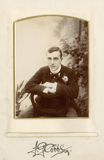 Portrait photograph of J. G. [Cobbler]