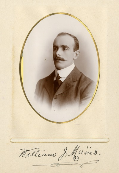 Portrait photograph of William J. Mains