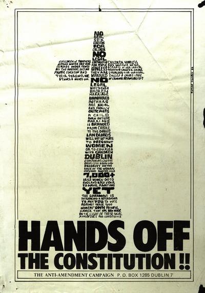 Hands Off Anti-Amendment Poster