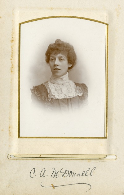 Portrait photograph of female Jacob's employee C. A. McDonnell