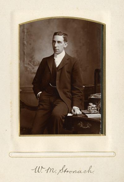 Portrait photograph of W. M. Stronach