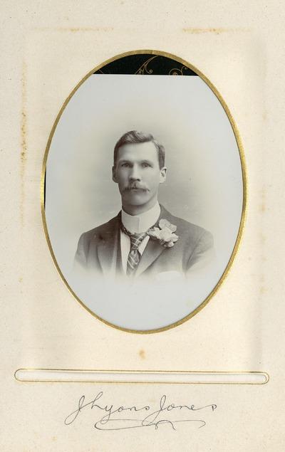 Portrait photograph of J. Lyons Jones