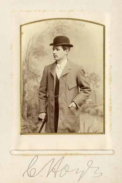Portrait photograph of C. [Hoyle]