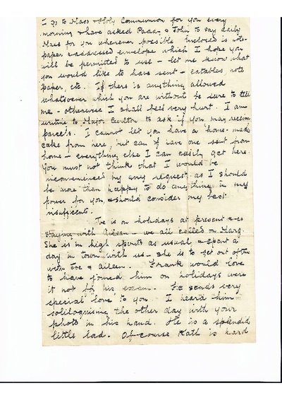 Letter Jo O'Connell