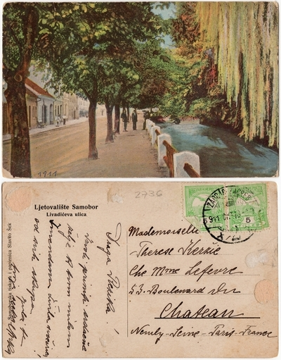 Ljetovalište Samobor, Livadićeva ulica: razglednica