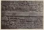 Een bas-reliëf van de Borobudur