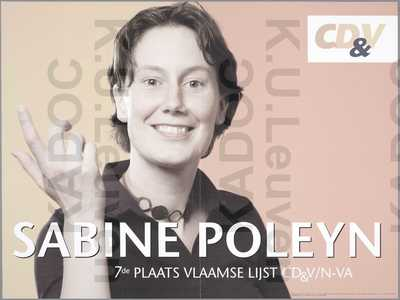 CD&V-NVA, arrondissement Kortrijk, regionale verkiezingen van 13 juni 2004 : propaganda voor Sabine Poleyn