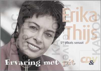 CD&V, arrondissement Hasselt, parlementsverkiezingen van 18 mei 2003 : propaganda voor Erika Thijs