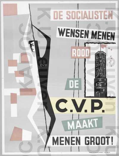 CVP, Menen, gemeenteraadsverkiezingen van 12 oktober 1958 : propaganda