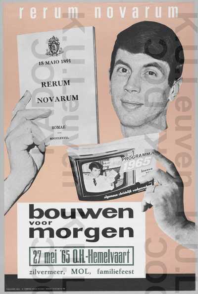 ACW, Mol, Rerum-novarumviering 'Bouwen voor morgen', Mol, 27 mei 1965 : aankondiging van het familiefeest /