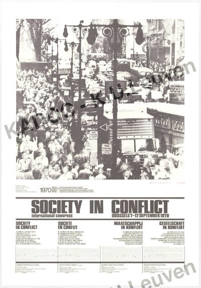 Internationaal congres 'Society in conflict', Brussel, 7-12 september 1970 : aankondiging