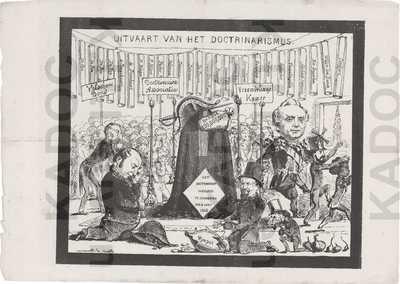 Katholieken, Antwerpen, ca. 1868 : 'Uitvaart van het doctrinarismus'