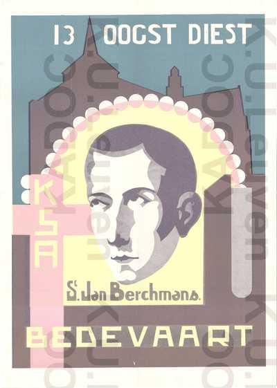 KSA, Sint-Jan Berchmansbedevaart, Diest, 13 augustus s.a. : aankondiging