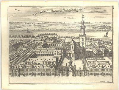 Zicht op de sint-Michielsabdij te Antwerpen