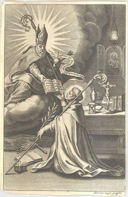 De heilige Norbertus ontvangt de orderegel van de heilige Augustinus