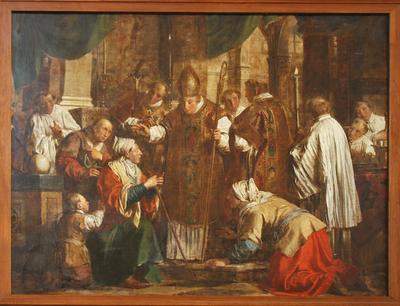Heilige Norbertus geneest een blinde vrouw