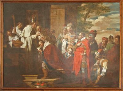 Hertog Godfried van Cappenberg bij de heilige Norbertus