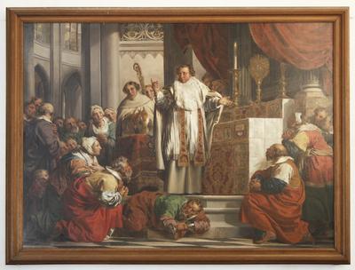 De Heilige Norbertus predikt tegen de ketter Tanchelm