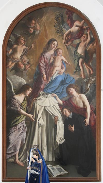 Norbertus ontvangt het witte kleed van Maria