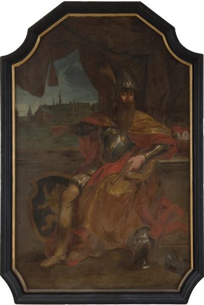 Portret van Godfried I met de Baard