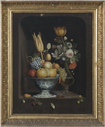Bloemen- en vruchtenstilleven