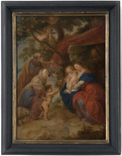 Heilige Familie met Elisabeth, Zacharias en Johannes