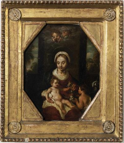 Maria met kind Jezus en Johannes