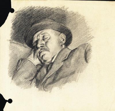 Mikszáth Kálmán alszik