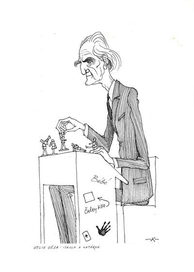 Ottlik Géza karikatúra