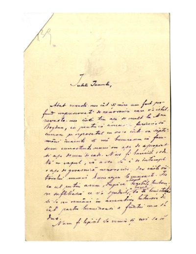 Scrisoare adresata lui Ioan Bogdan