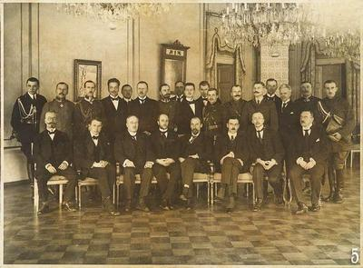 Two photos of the Conference of the Baltic States, held in Helsinki on 15–22 January 1920