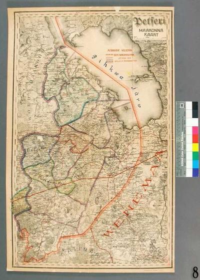 Map of Petseri County, 1:12600