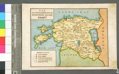 Estonian Seed Grain Community's map of seed growers and seed sale locations [Map] / [Estonian Seed Grain Community]