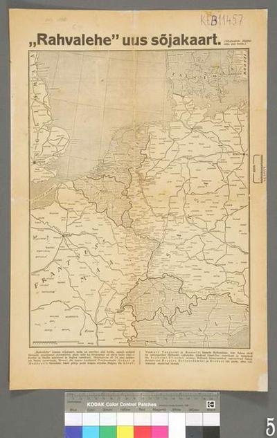 New war map of the newspaper Rahvaleht, 1:3250000